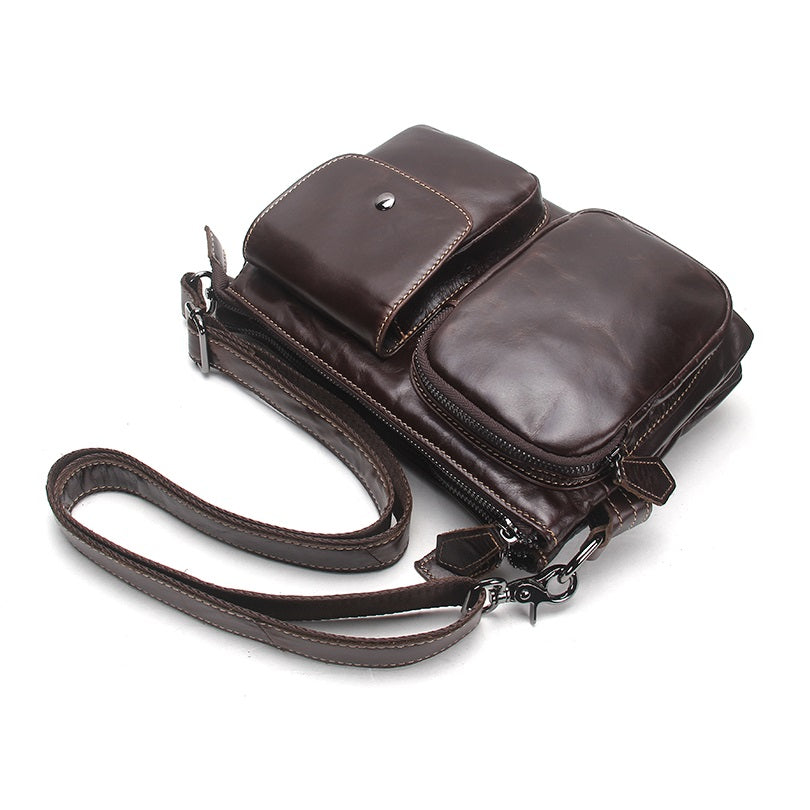 Soft Genuine Leather Umber Shoulder Travel Bag-RnB.Style