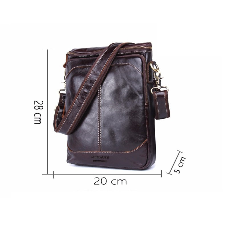 Walnut Brown Genuine Leather Crossbody Bag-RnB.Style
