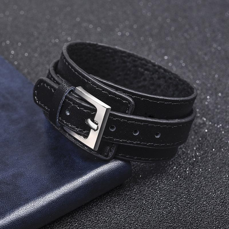 Genuine Leather Wide Cuff Bracelet-RnB.Style