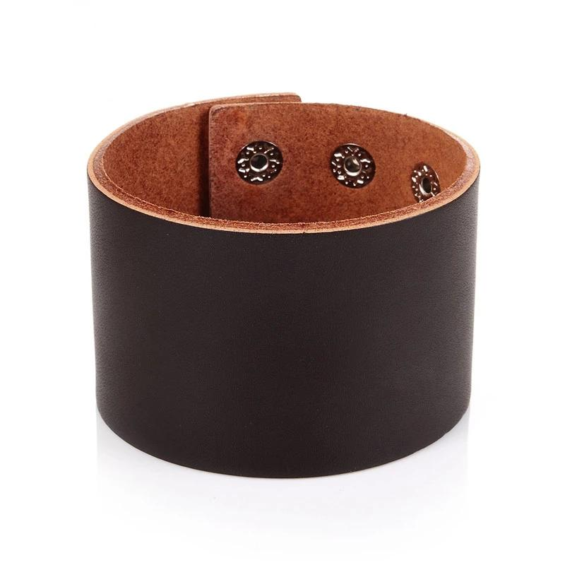 Wide Genuine Leather Vintage Cuff Bracelet-RnB.Style