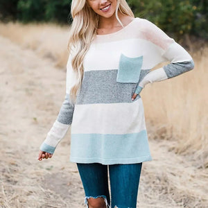 Fashion Round Neck Long Sleeved Sweater