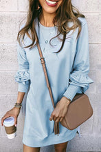 Load image into Gallery viewer, Fashion Plain Long Sleeve Casual Dress