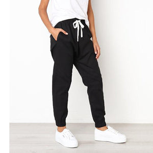 Casual Loose Drawstring Ankle Banded Pants