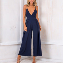 Load image into Gallery viewer, Sexy V Neck Backless Sleeveless Jumpsuit