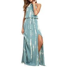 Load image into Gallery viewer, Halter Backless Sexy Vacation Maxi Dress