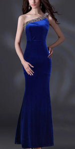 Single Shoulder Fishtail Dress Evening Dress