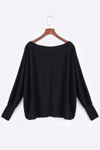 Load image into Gallery viewer, Round Neck  Plain  Batwing Sleeve T-Shirts