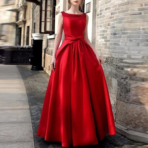 Ladies Elegant Banquet Wedding Evening Dress Skater Dress