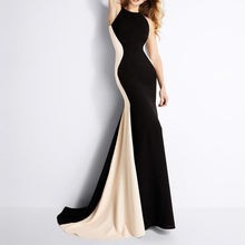 Load image into Gallery viewer, Sleeveless Spell Color Slim Fishtail Dress Evening Dress