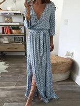 Load image into Gallery viewer, Fashion V-Neck  Plain Vintage Maxi Dresses