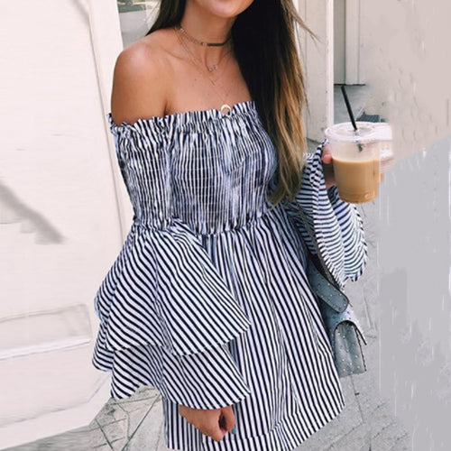 Spaghetti Strap  Cascading Ruffles Smocked Bodice  Checkered  Bell Sleeve  Long Sleeve Skater Dresses