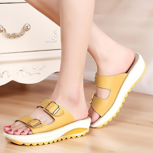 Casual Genuine Leather Non-Slip Sandals