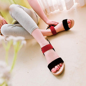 Sweet Casual Frosted Flat Sandals