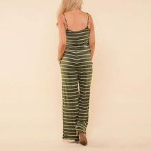 Load image into Gallery viewer, Backless Sexy Striped Striped Jumpsuit