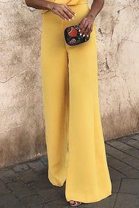 Sexy Fashion Yellow Sleeveless Jumpsuit