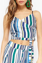 Load image into Gallery viewer, Stylish Stripe Two-Piece Suit Jumpsuit