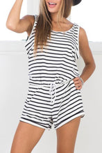 Load image into Gallery viewer, Fashion Stripe Sleeveless Rompers Playsuit