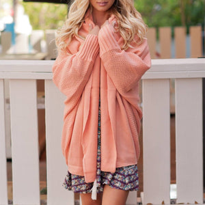 Fashion Autumn Bat Sleeve Cardigan