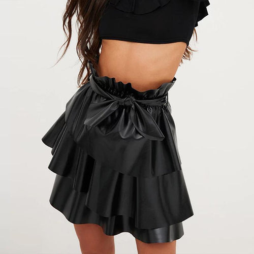 Fashion Belt Fluffy Skirt