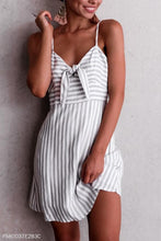 Load image into Gallery viewer, Fashion Stripe Sleeveless Mini Dress