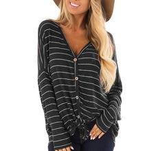 Load image into Gallery viewer, Fashion Stripe Irregular Long Sleeve T-Shirt