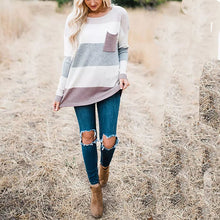 Load image into Gallery viewer, Fashion Round Neck Long Sleeved Sweater