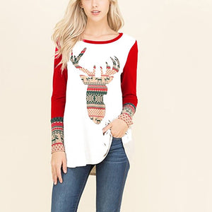 Fashion   Floral Print Round Neck T-Shirts