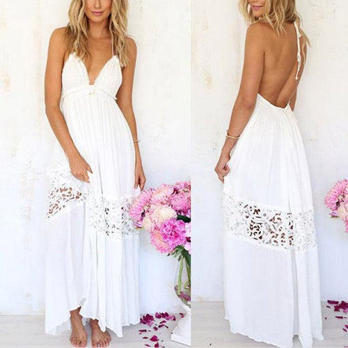 Lace Halter Beach Dress Dress