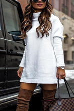 Load image into Gallery viewer, Fashion Plain Long Sleeve Sweater Casual Dress