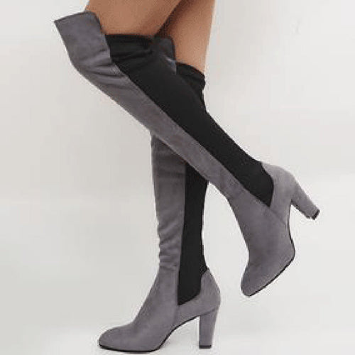 Fashion Coarse Heel Split Joint High Boots