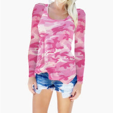 Load image into Gallery viewer, Fashion Camouflage Long-Sleeved T-Shirts