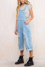 Load image into Gallery viewer, Fashion Plain Denim Wide Leg Jumpsuits