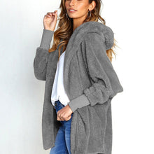 Load image into Gallery viewer, Fashion Hooded Fluffy In Fleece Fur Outerwear
