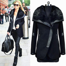 Load image into Gallery viewer, Winter Woolen Coat Warm Big Fur Collar Outwears Zipper Overcoats