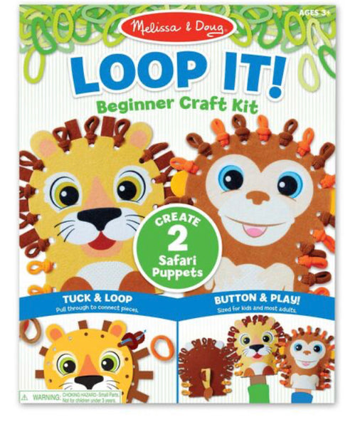 Loop It! Beginner Craft Kit - Safari Puppets