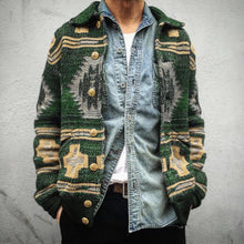 Load image into Gallery viewer, Man's Ethnic Autumn Single-Breasted Cardigan