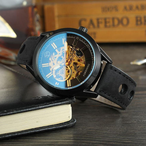 Mens Fashion Hollow  Waterproof Automatic Mechanical Watches