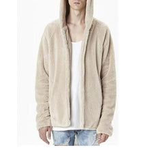 Load image into Gallery viewer, Fashion Mens  Loose Plain Floss Zipper Coat