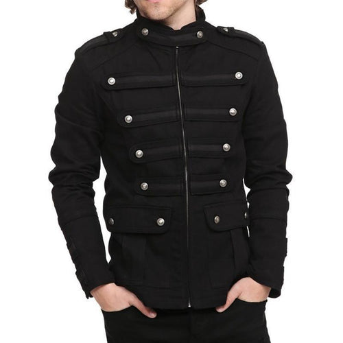 Fashion Mens Breasted Pocket Jacket