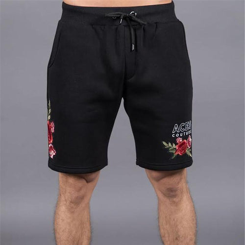 Fashion Drawstring Embroidery Fast Drying Short Pants