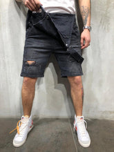 Load image into Gallery viewer, Men's Sling Denim Jumpsuits Shorts