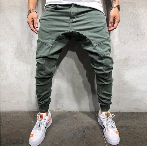 Men's Casual Sportwear Baggy Slacks Ankle-Length Pants