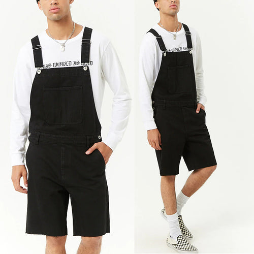 Vintage Fashion Tooling Straight Type Denim Overalls