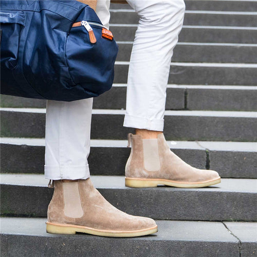 Men's Fashion Solid Color Suede Pointed Boots