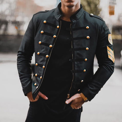 Men's Winter Black Zip Jacket