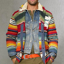 Load image into Gallery viewer, Fashion Rainbow Colorblock Knit Sweater