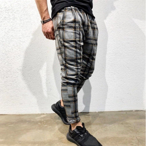 Men's Slim Personality Casual Sports Stripe Pants