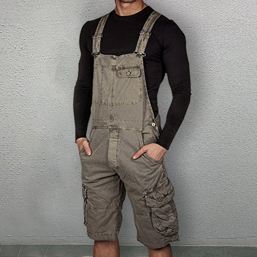 Fashion Casual Slim Fit Tooling Overalls