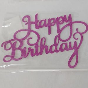 Happy Birthday Paper Cake Topper - Pink