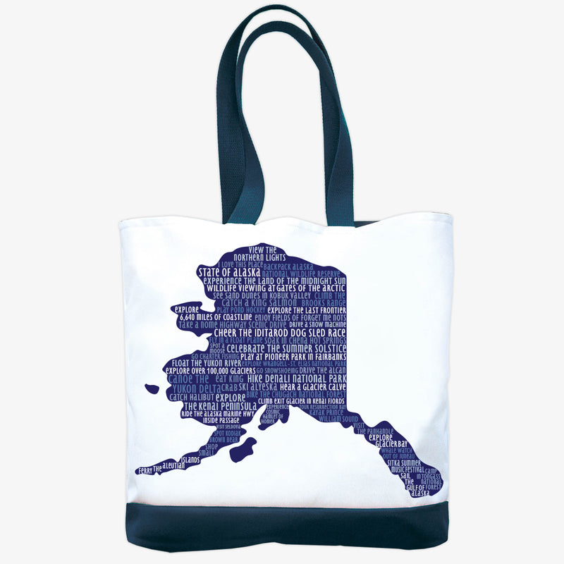 Tandem For Two - Day Tote - Alaska Silhouette
